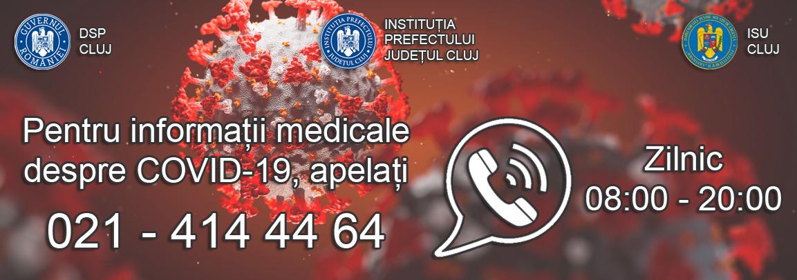 Informare de presă – Linie telefonică pentru informații medicale despre COVID-19