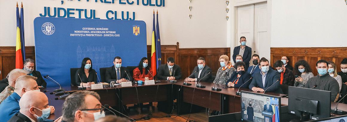 Ceremonia de învestire a noii conduceri a Instituției Prefectului – Județul Cluj